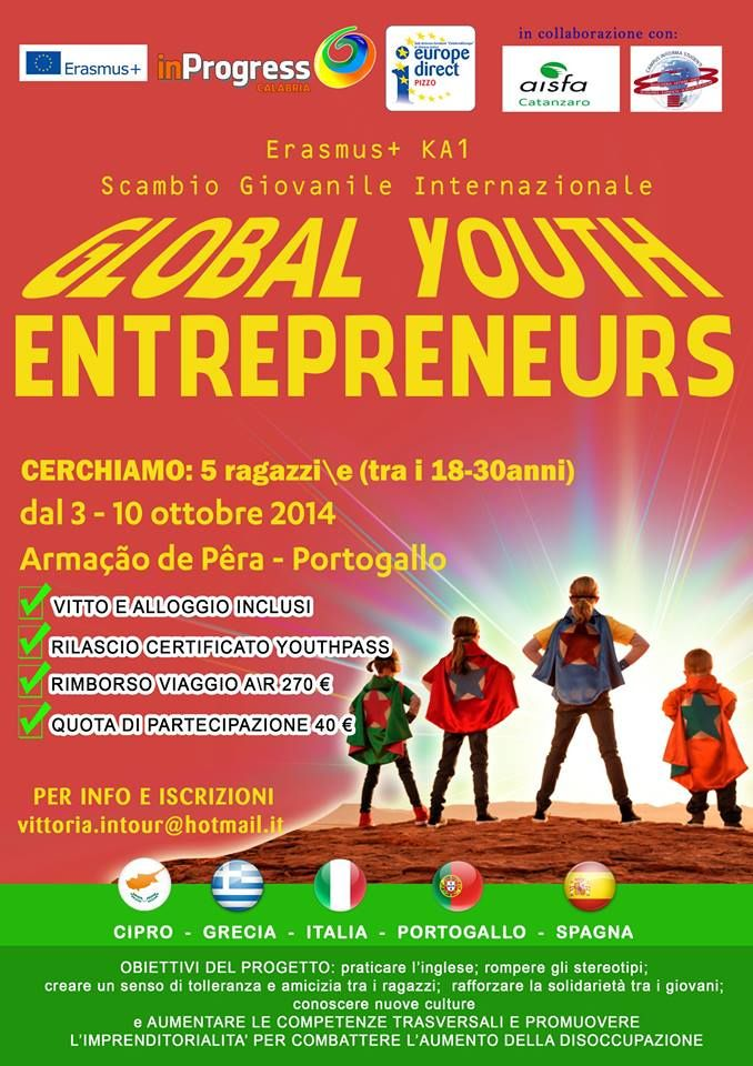3th-10th Oct 2014 - Armaçao de Pera, Portugal. Global Youth Entrepreneurs. Youth Exchange