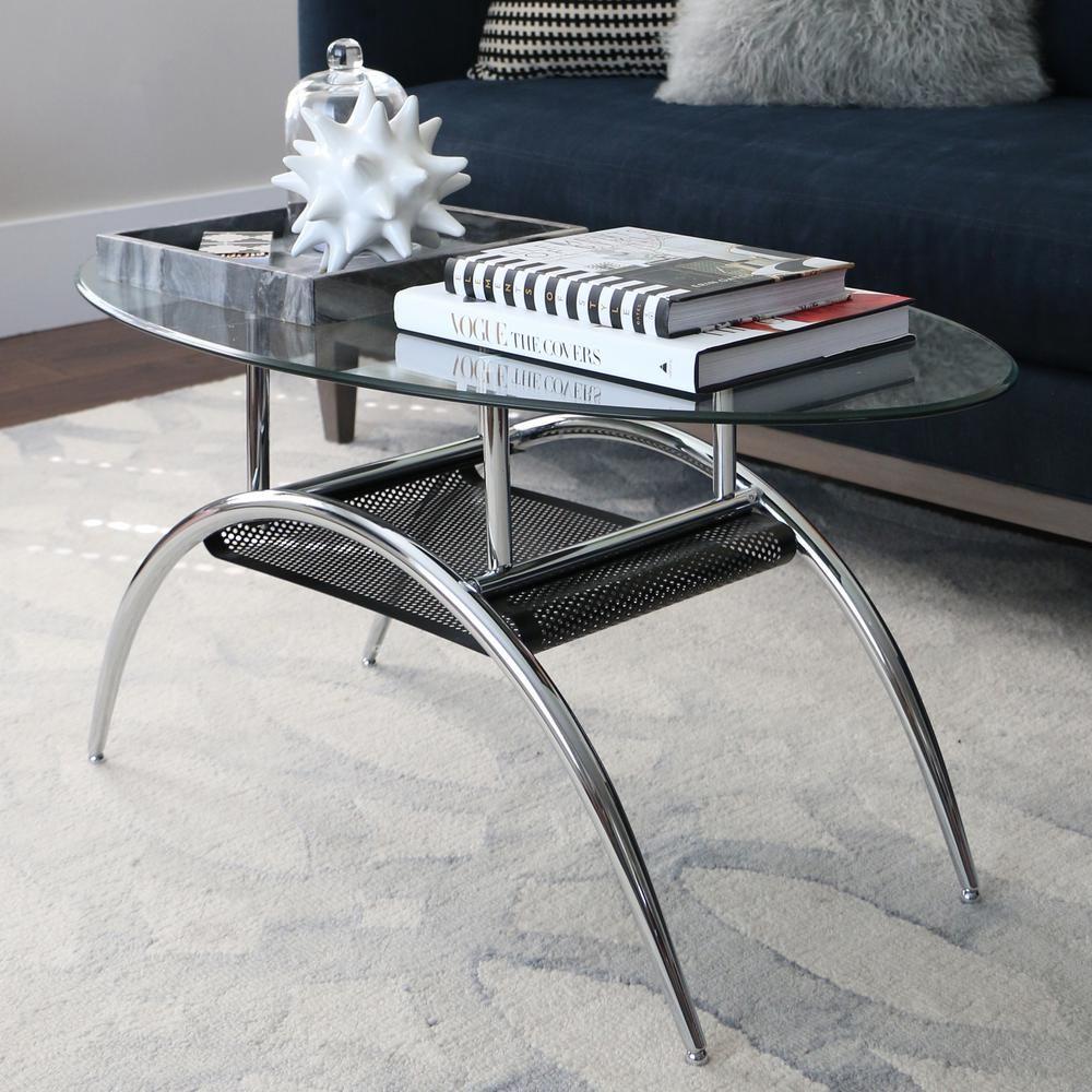 Walker Edison Furniture Company Glass Storage Coffee Table C42bm The Home Depot Metal Coffee Table Coffee Table With Storage Glass Storage [ 1000 x 1000 Pixel ]