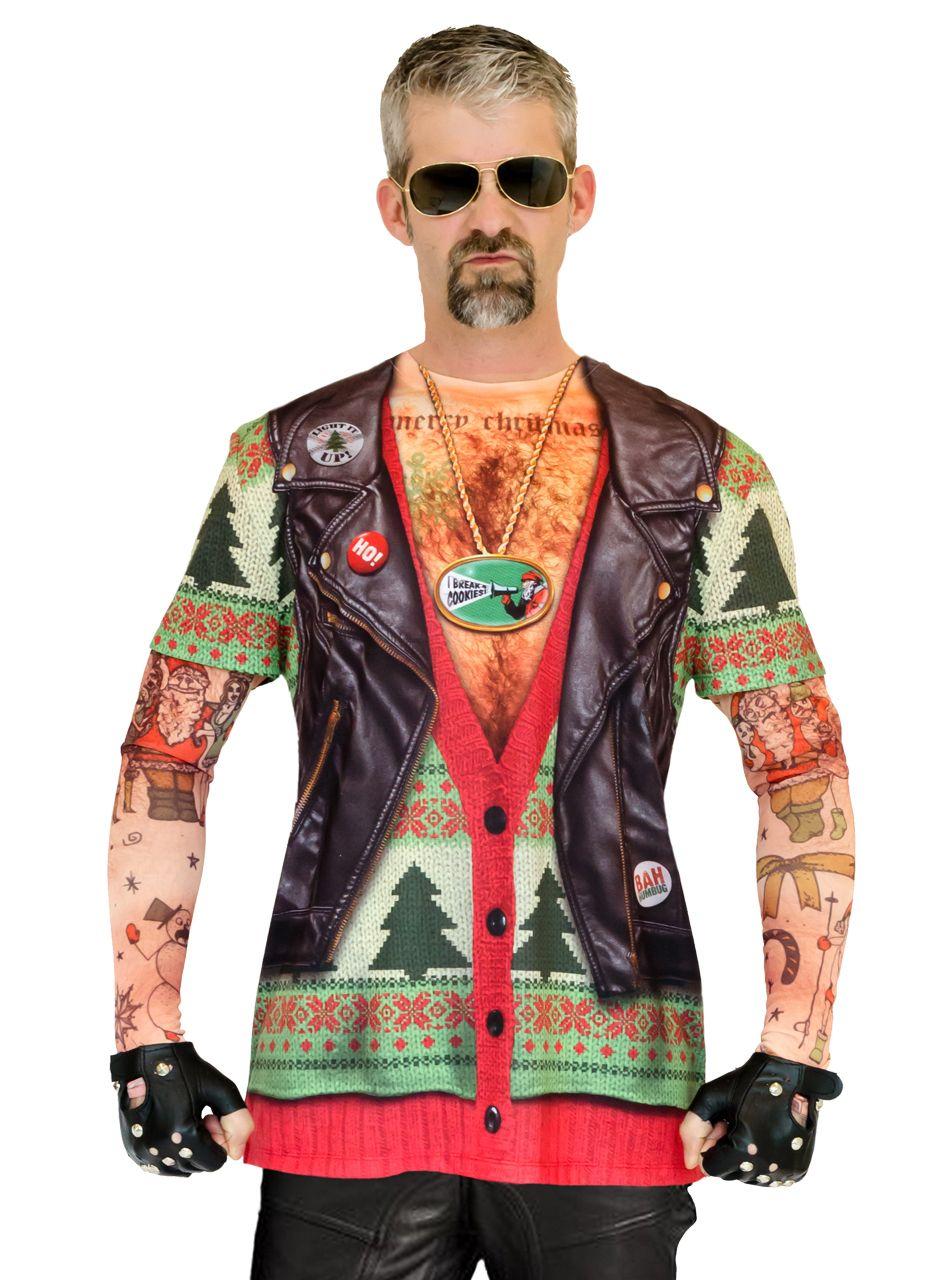 6add615b65f8 Xmas Biker Sweater w  Tattoos - Faux Real