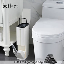 Narrow Bathroom Trash Can Trash Cans For Toilet Trash Can With Lid Toilet Brush Trash Bag Storage Containe Bathroom Trash Can Toilet Brush Garbage Bags Storage