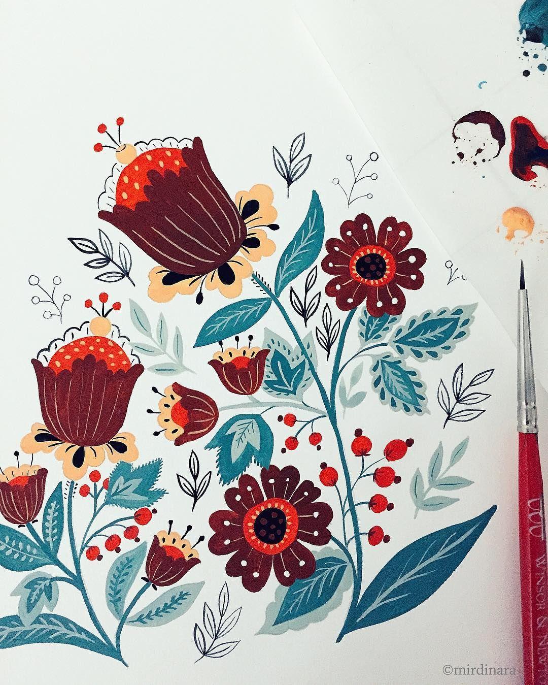 Floral motives + great music + midnight coffee = sleepy me tomorrow