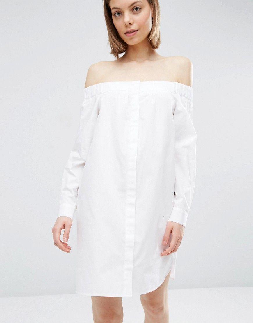77a60a9cf9c ASOS white off-shoulder dress