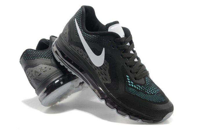 the latest e5363 c29cf Nike Air Max 2014 Mens Shoes Black White Blue fdGa4
