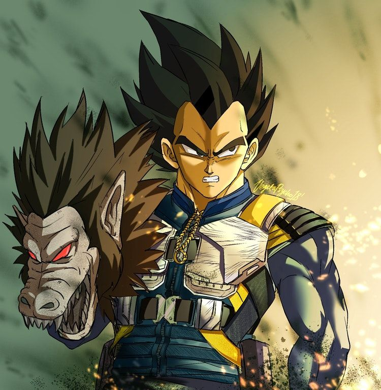 [FANART] Vegeta as Killmonger by twitteruser VegetaPsycho