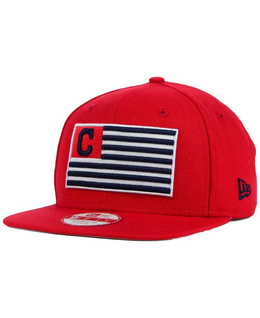 59f9abc2eb0 New Era Cleveland Indians Team Merica 9FIFTY Snapback Cap