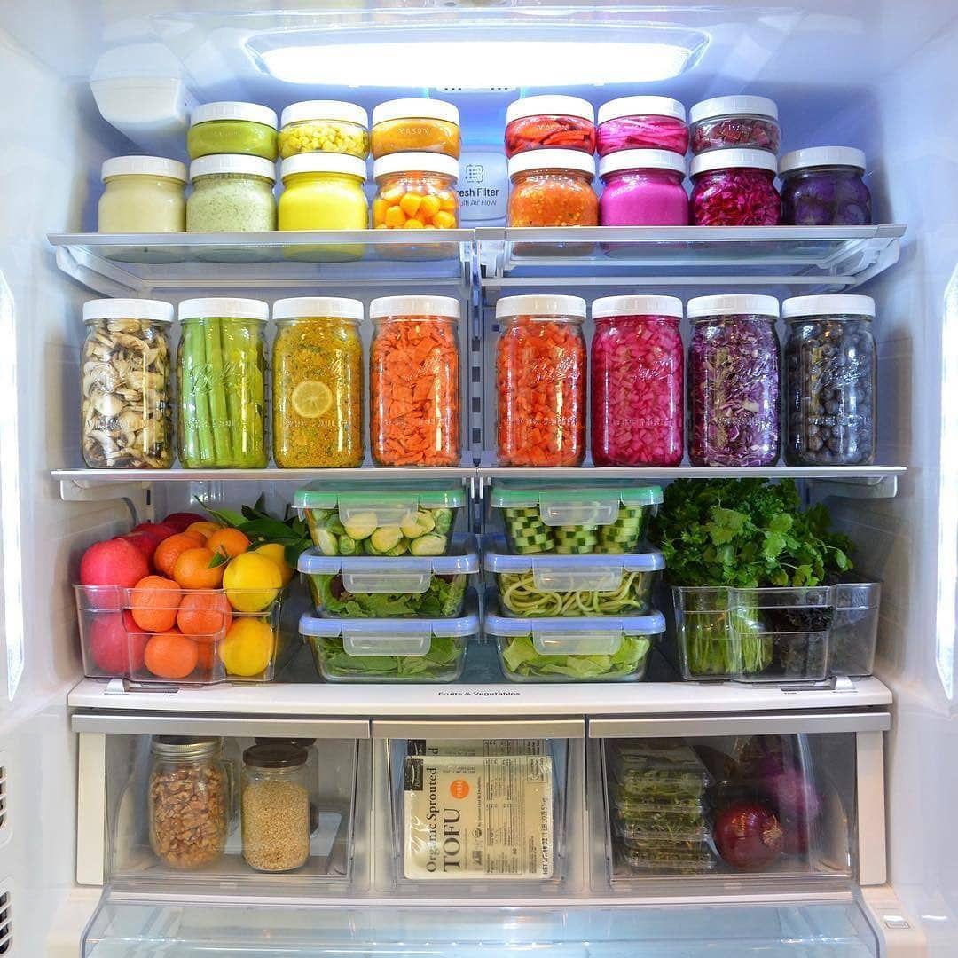 Rainbow Kitchen Decor: Rainbow #fridgegoals. #iamwellandgood #regramlove