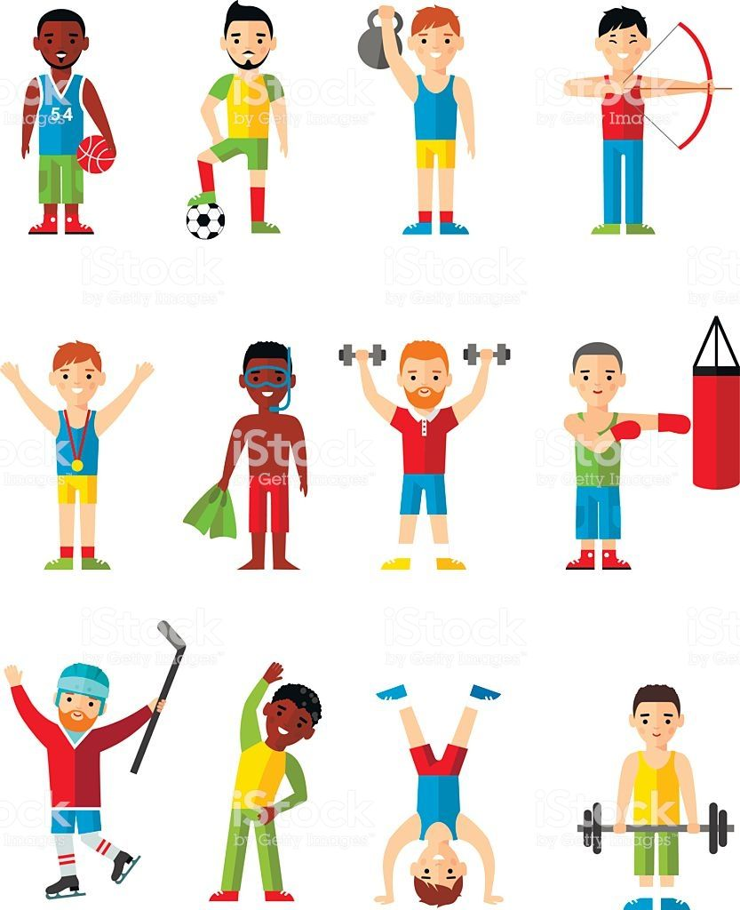 Lifestyle Icons Set People Playing Sports Sport Games Workout Set Free Vector Illustration Vector Free Free Vector Art
