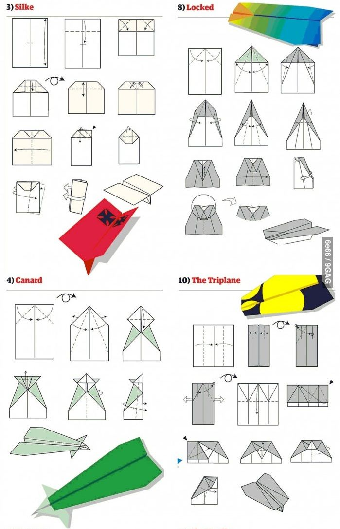 papierflieger bauen basteln mit kids pinterest origami papercraft and craft. Black Bedroom Furniture Sets. Home Design Ideas