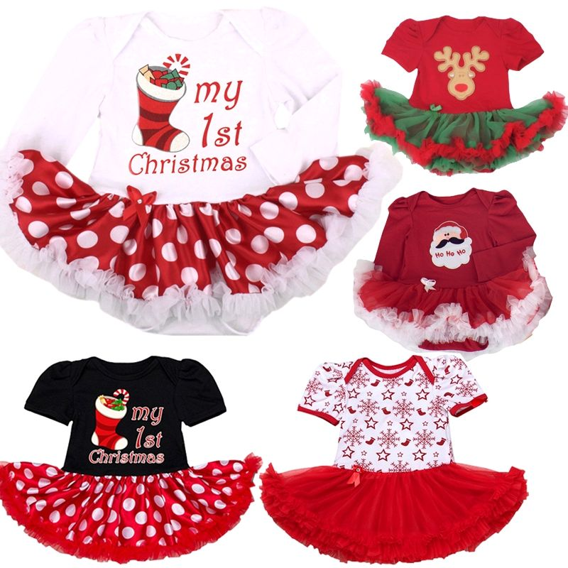 06bde6893 Baby Girls Clothes 2018 New Christmas Rompers Jumpsuit Kid Girls ...
