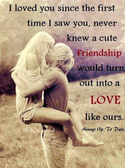 Friendship Turns To Love Quotes With Photos Pinterest Love Inspiration Quotes About Friendship Turning To Love