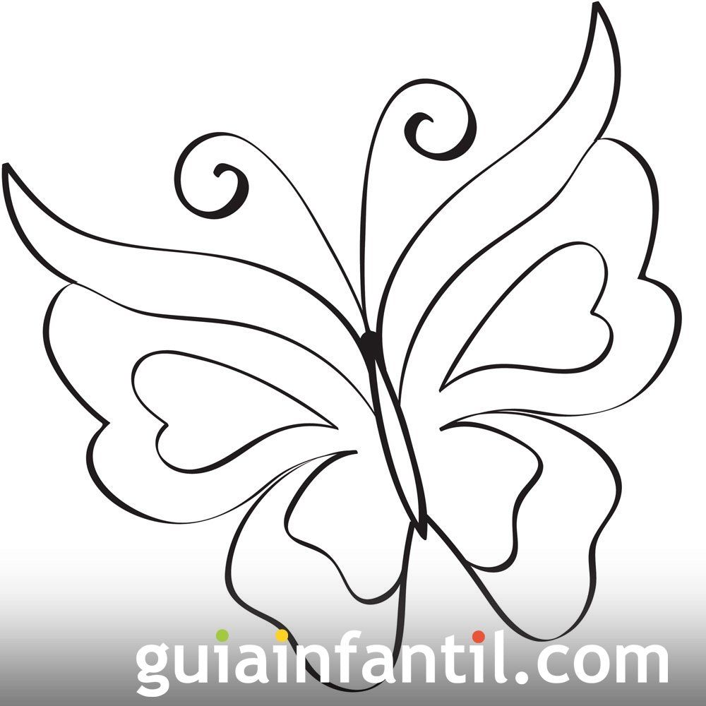 Imprime este dibujo de una bonita mariposa. Se trata de un dibujo ...