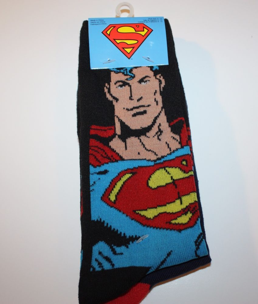 0b6a08eb29bc SUPERMAN SOCKS 2 PAIRS DC COMICS JUSTICE LEAGUE FITS MEN S SHOE SIZE 6-12  CASUAL  DCComics  Casual  Superman  Superhero  Comics  JusticeLeague