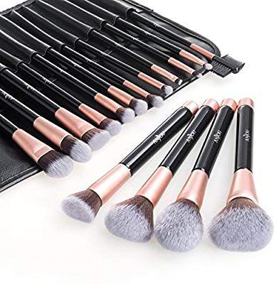 amazon anjou makeup brush set 16pcs premium cosmetic