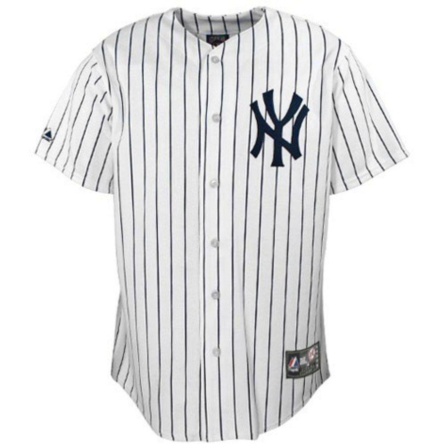 Men S New York Yankees Derek Jeter Majestic White Replica Player Jersey New York Yankees Shirt Derek Jeter New York Yankees