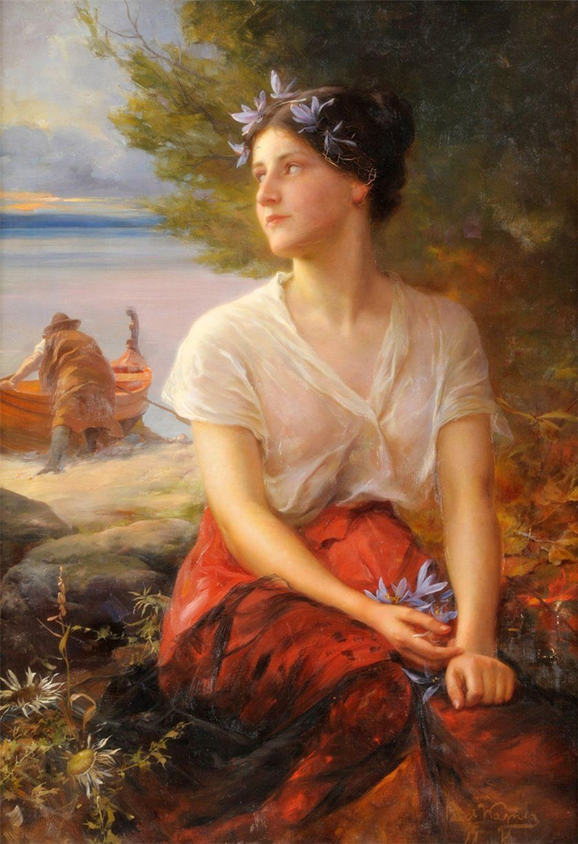 The Pretty Fisherwoman By Paul Hermann Wagner 2020 Resim Sanati Sanat Resim