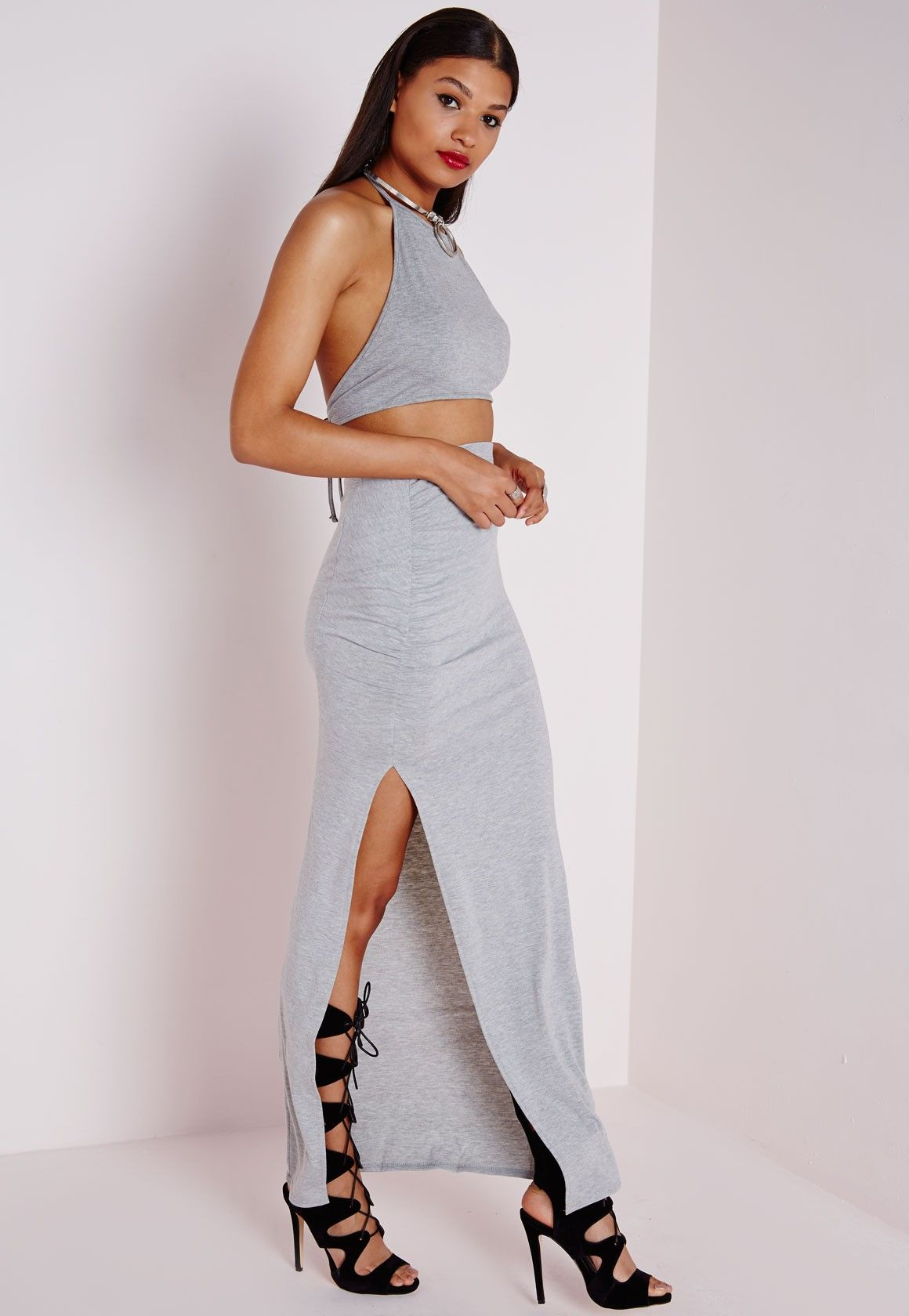 White Side Split Maxi Skirt | Jill Dress
