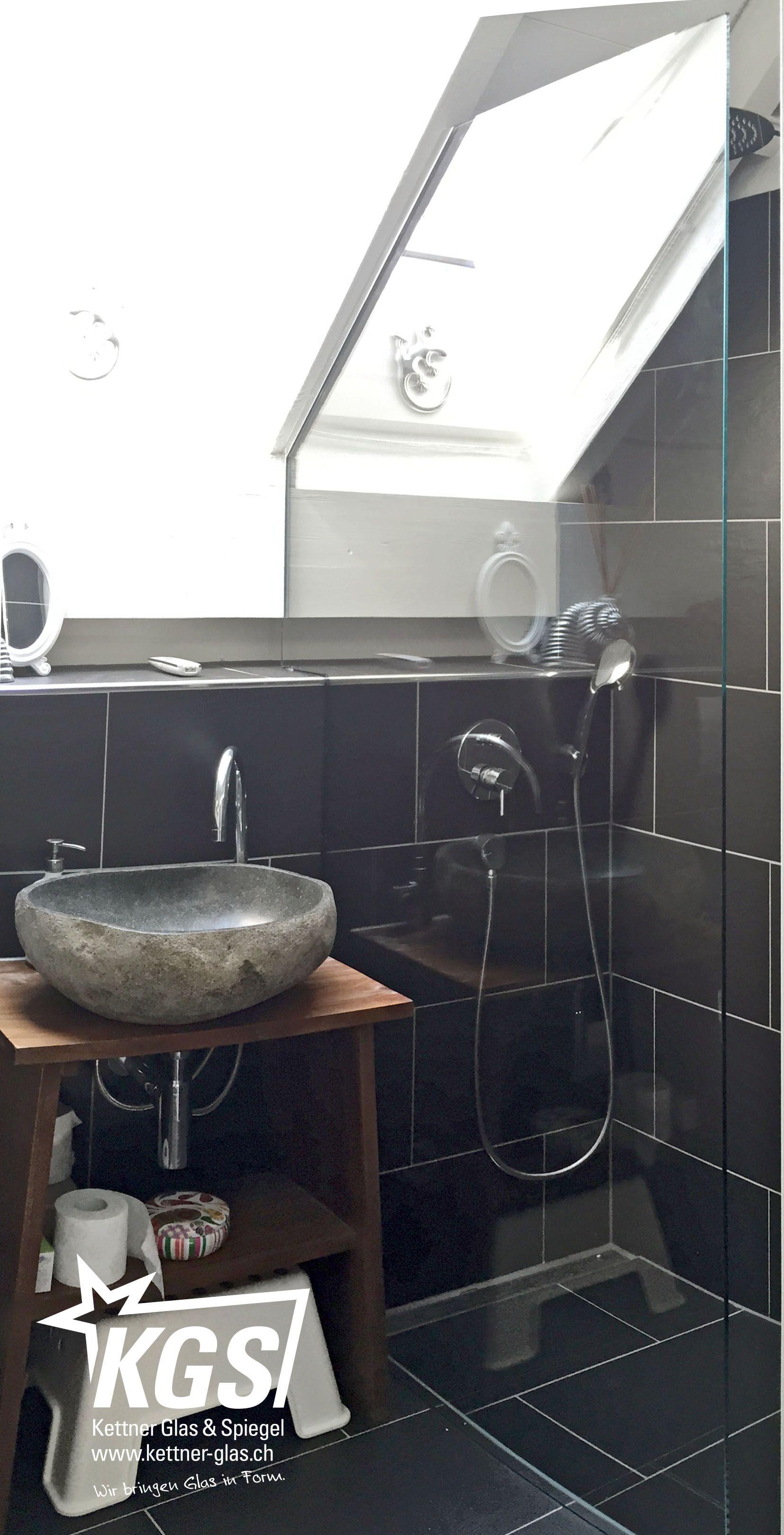 Erstaunlich Spiegel Für Dachschräge Galerie Von #badezimmer Mit Â«charmanter» #glastrennwand Von Ihrer #glaserei:
