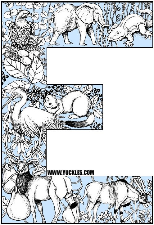 Alphabet Coloring Page E Kids Pinterest - best of coloring pages to print animals