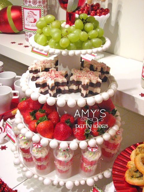 Attractive Dessert Ideas For Christmas Party Part - 9: Amyu0027s Party Ideas