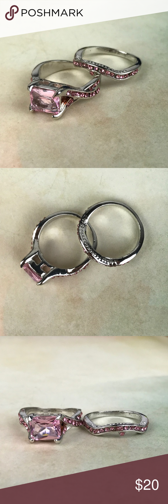 Pink Silver ring Size 7 It is New Without Tags. Thank you
