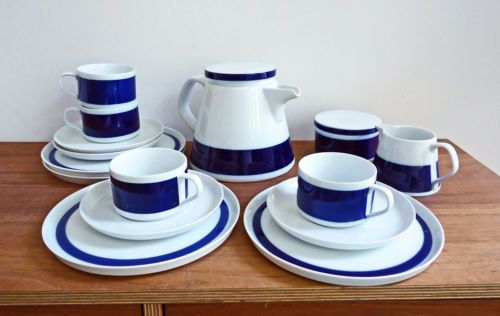 Melitta Stockholm dunkelblau Kuchenteller Porzellan Geschirr