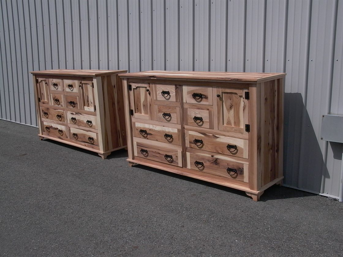 Rustic Knotty Alder Big Dresser 8 Drawers And 2 Doors Lot Of Room In This One These Are Pieces We Usua Rustic Bedroom Furniture Rustic Bedding Big Dresser Dresser with doors and drawers