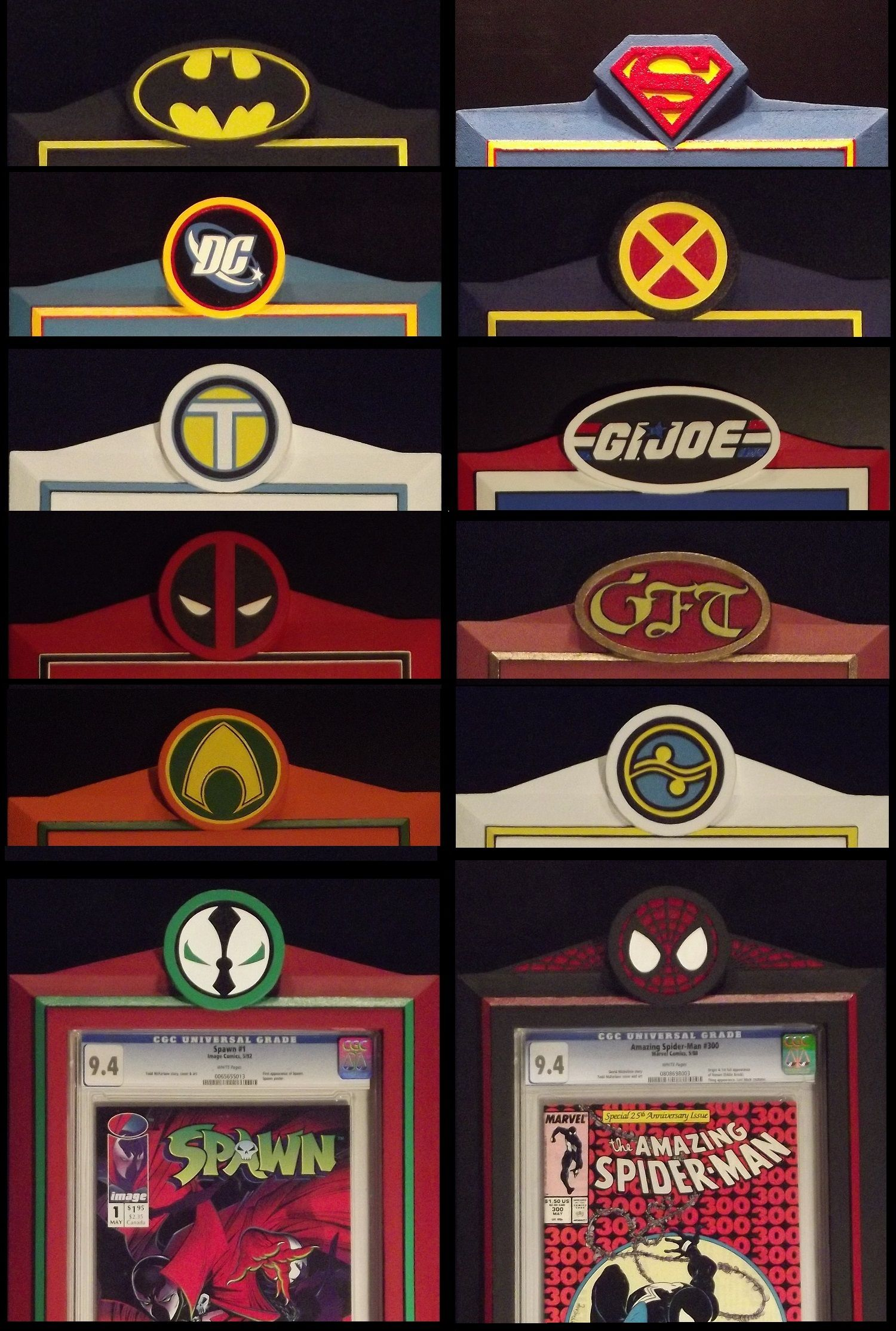 hand crafted polystyrene acrylic coated custom painted with colors you choose comic book displaybook
