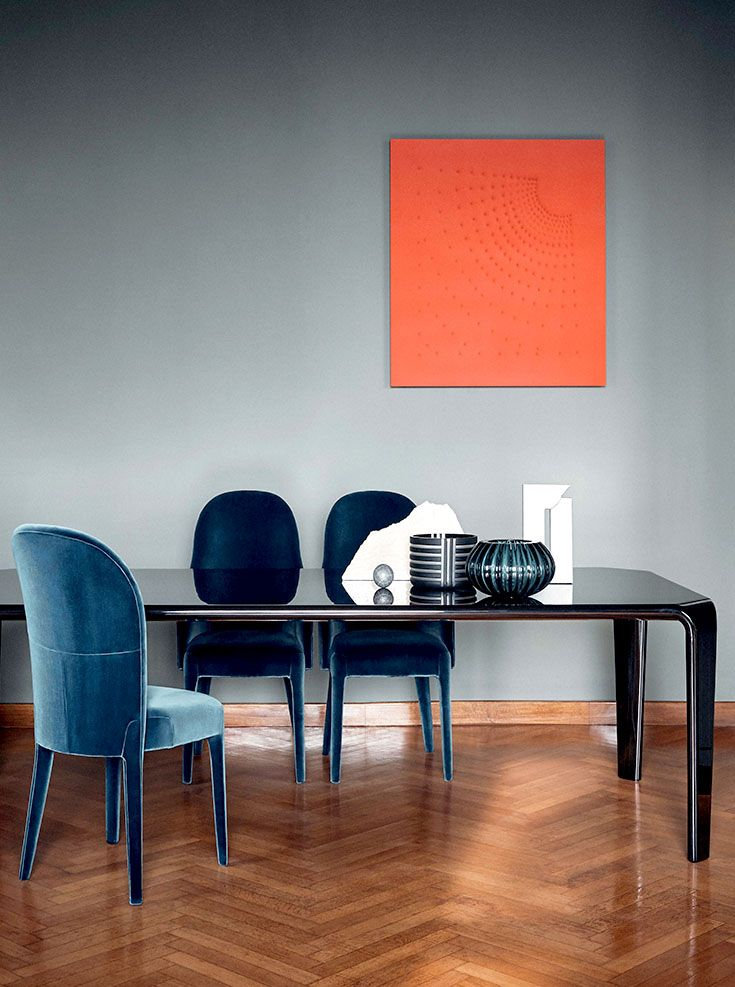 Fendi Casa FF CASA Margutta dining table and Ripetta chairs