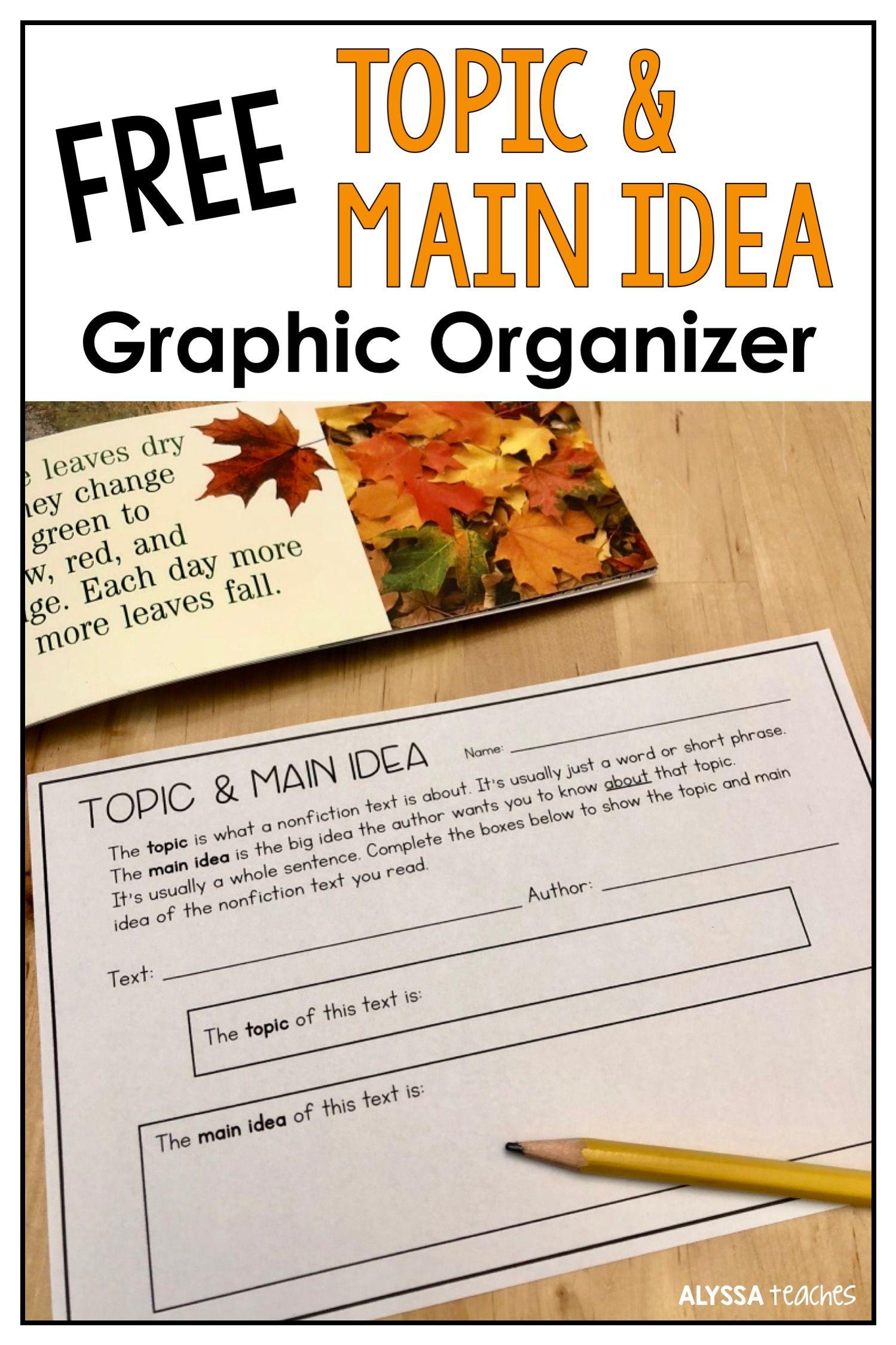 Teaching Topic Vs Main Idea