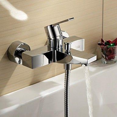 Singola maniglia cromata montaggio a parete rubinetto della vasca da bagno rubinetti per vasca - Rubinetto a parete bagno ...