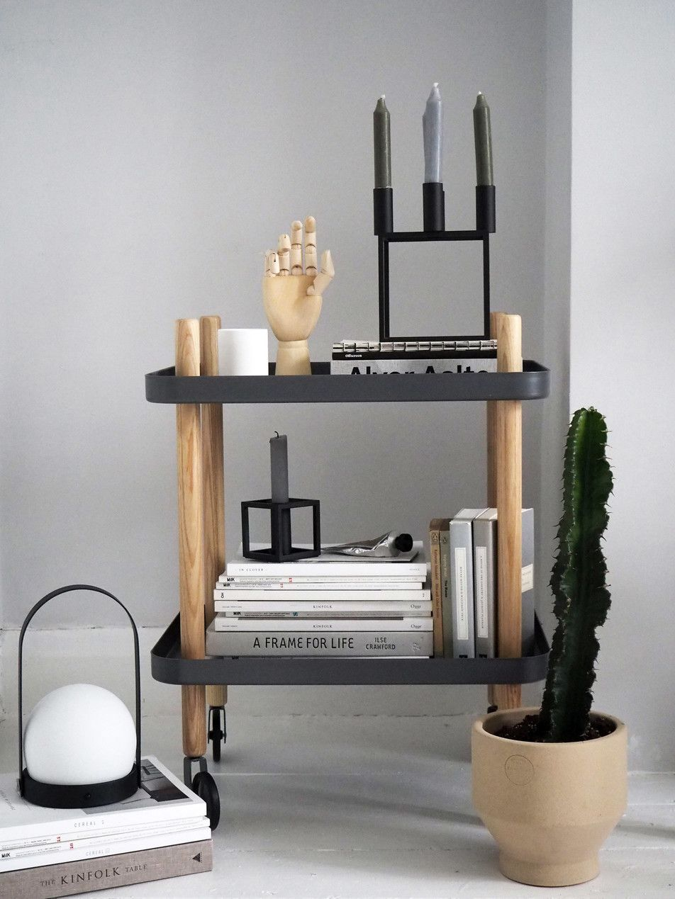 Normann Copenhagen bar cart trolley - Scandinavian style - plants in ...