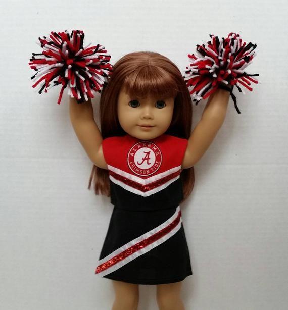 18 Doll Cheerleading Outfit w//Alabama Logo