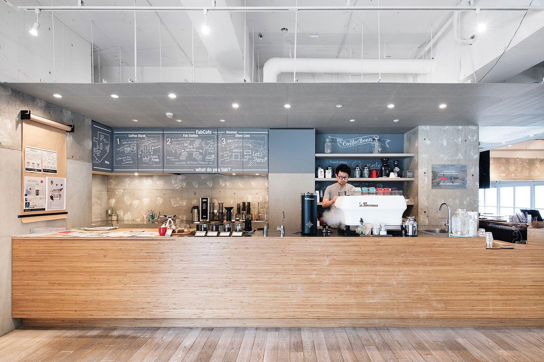 "photo(C)Kenta Hasegawa / Naruse Inokuma Architects and Yoshino Furuichi Architects designed ""FabCafe Tokyo(renewal)"" in shibuya, tokyo, japan."
