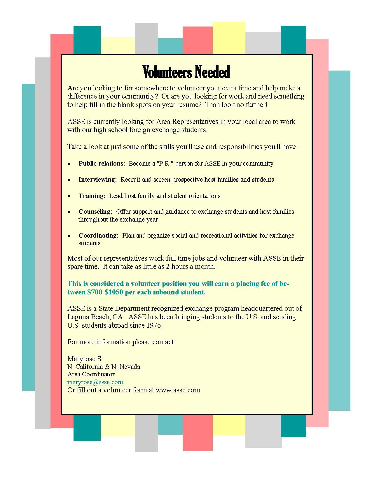 volunteer, study abroad, exchange students, ASSE