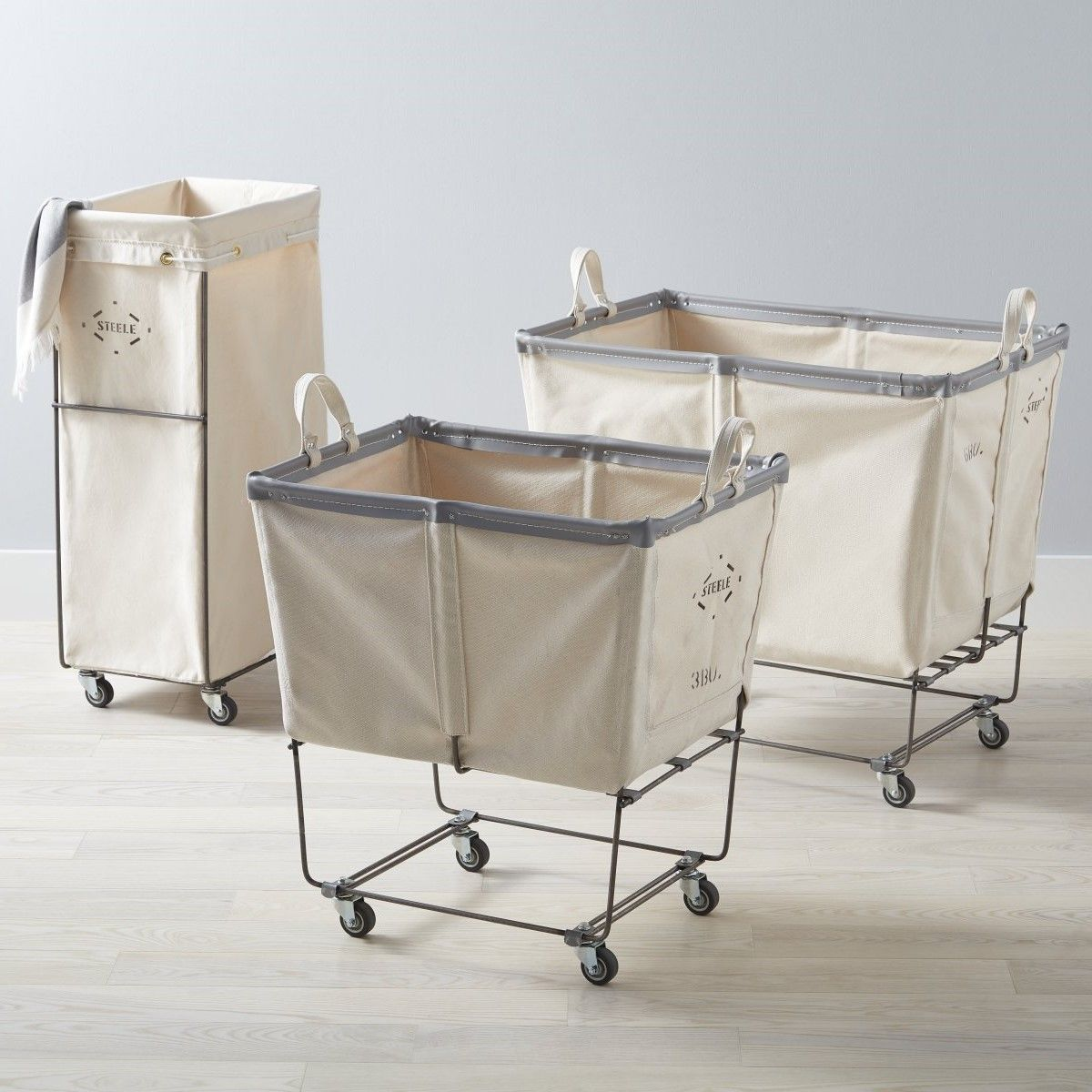 Our Steele Canvas Natural Carry Hamper Laundry Cart And Sorting