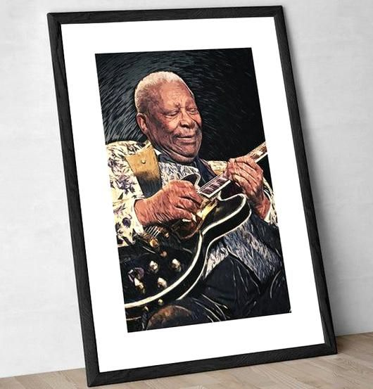 BB King - Blues Music - Guitarist - Music Art - Music Gift - Music Decor - Music Poster - Music Prin