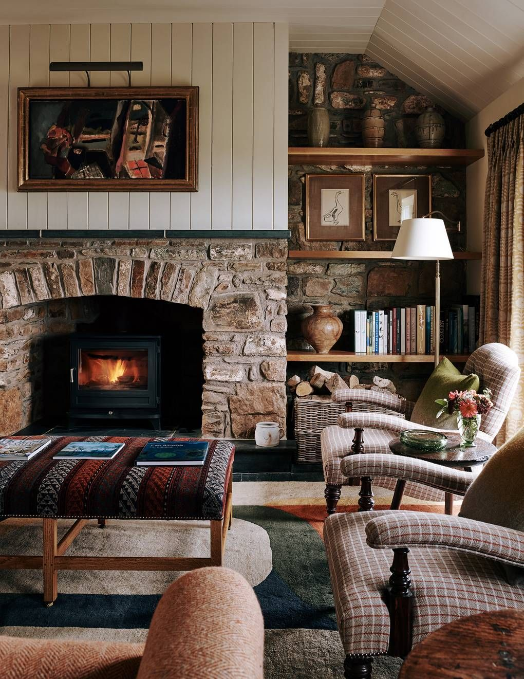 Wonderful Pictures Stone Fireplace with shelves Style John McCall decorates a cottage in Pembrokeshire  House  Garden