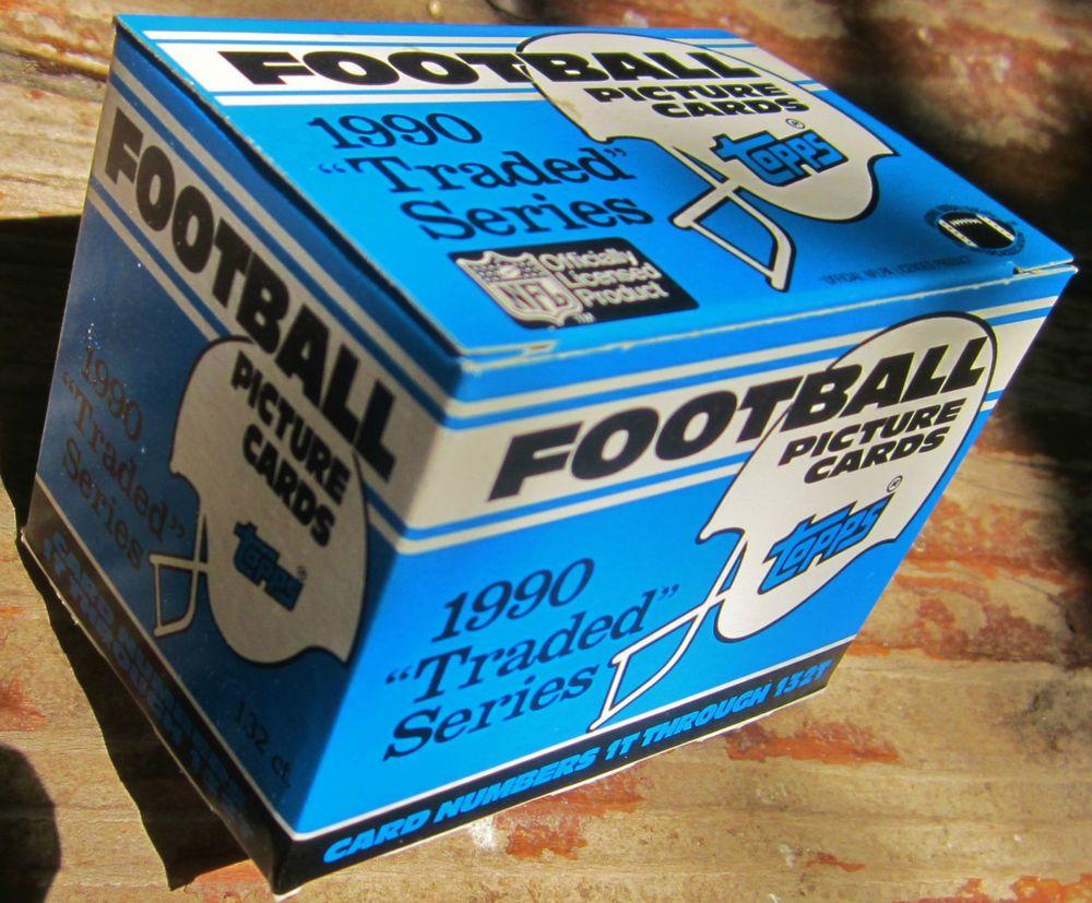 1990 topps football traded factory set emmitt smith rookie