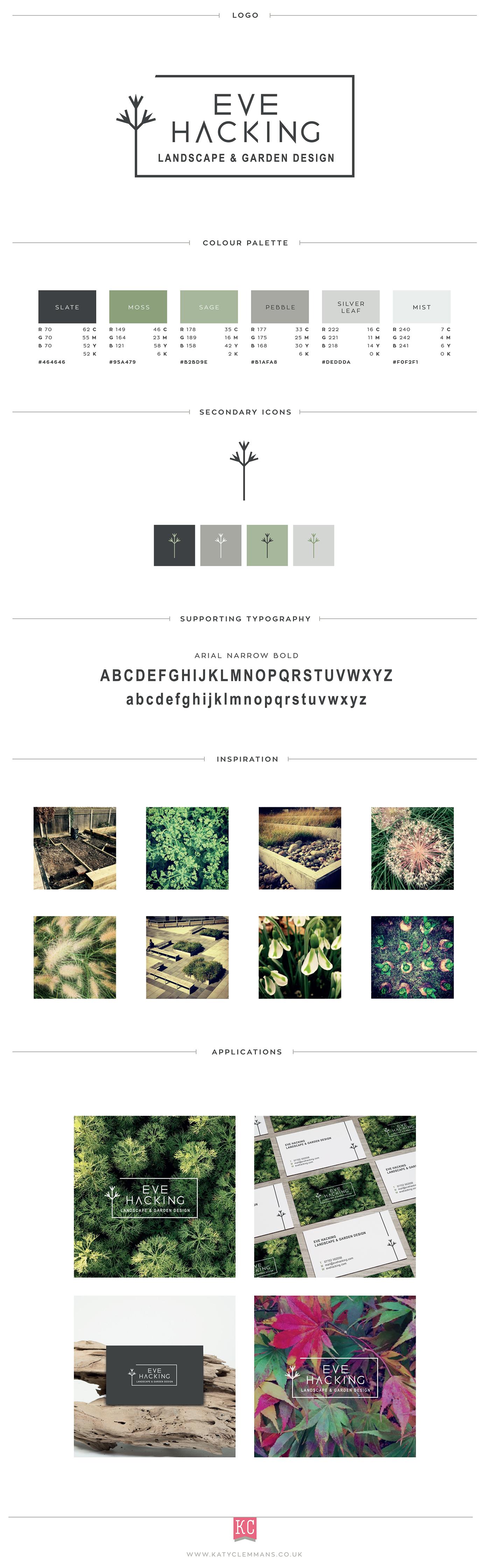 Eve Hacking Landscape Garden Design Branding On Behance Presentation Design Garden Design Simple Landscape Design
