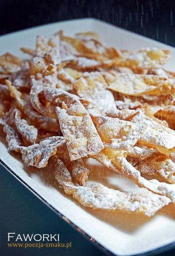 Faworki chruciki chrust brushwood cakes recipe in polish polish desserts faworki chruciki chrust brushwood cakes recipe forumfinder Images