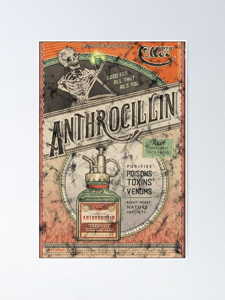 the outer worlds anthrocillin poster by