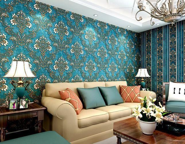 10m 3D Wallpaper Bedroom Living Wall Retro Background Stripe Mural ...