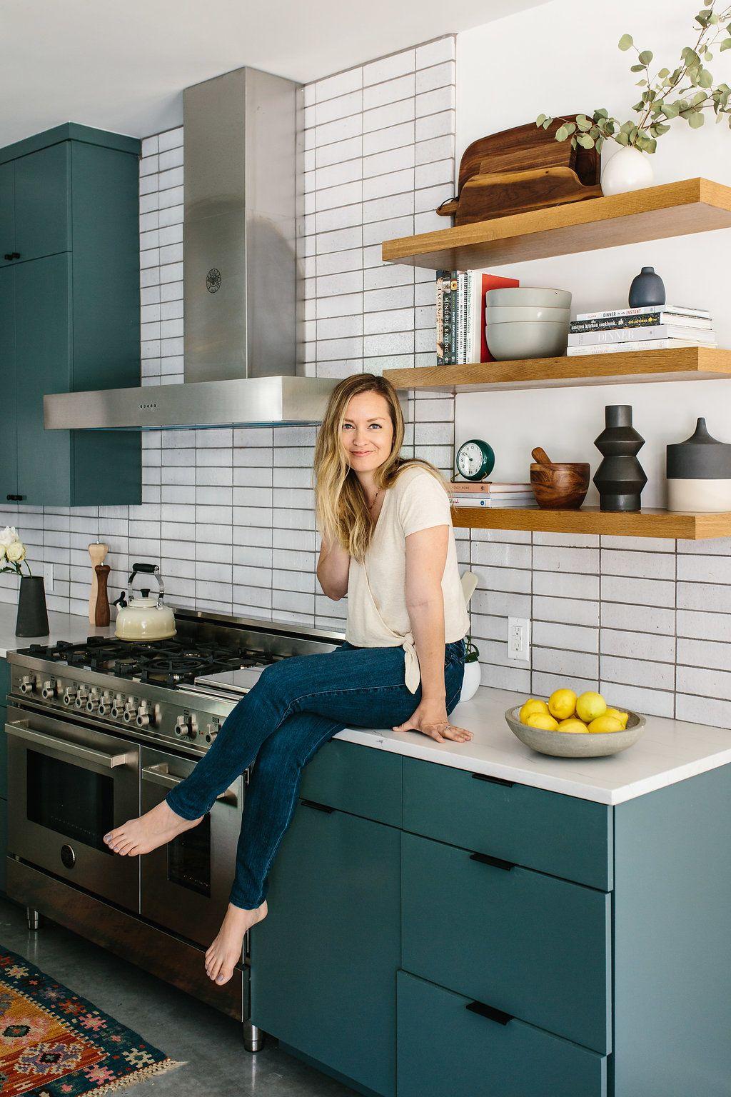 Our Austin Casa The Kitchen Reveal The Effortless Chic Kitchen Design Modern Kitchen Mid Century Modern Kitchen