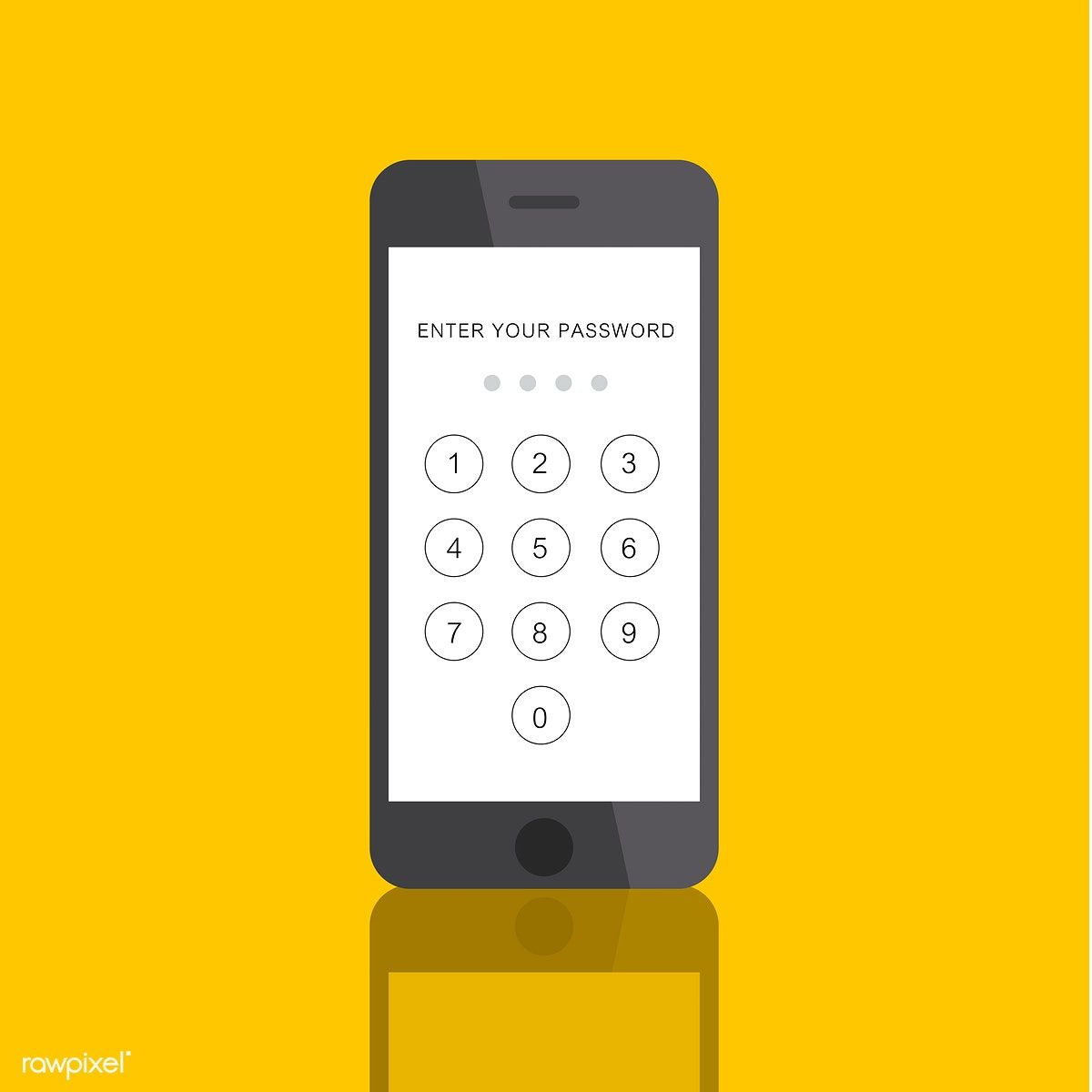 Download Premium Vector Of Illustration Of Mobile Phone With Enter Mobile Phone Phone Computer Humor