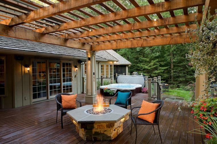 Pergolas de aluminio o madera 60 ideas modernas Pergolas and Patios