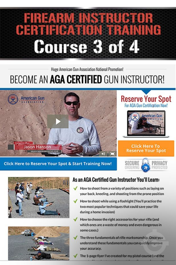 Firearm Instructor Certification Training Course Part 3 Of 4