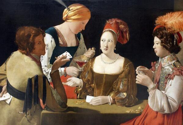 Georges de la Tour「Le Tricheur à l'as de carreau」 (1636-38)