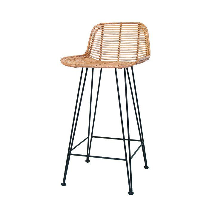 Hand Braided Rattan Bar Stool With Natural Finish By HK Living. About HK  Living : From Basic Through To Scandic