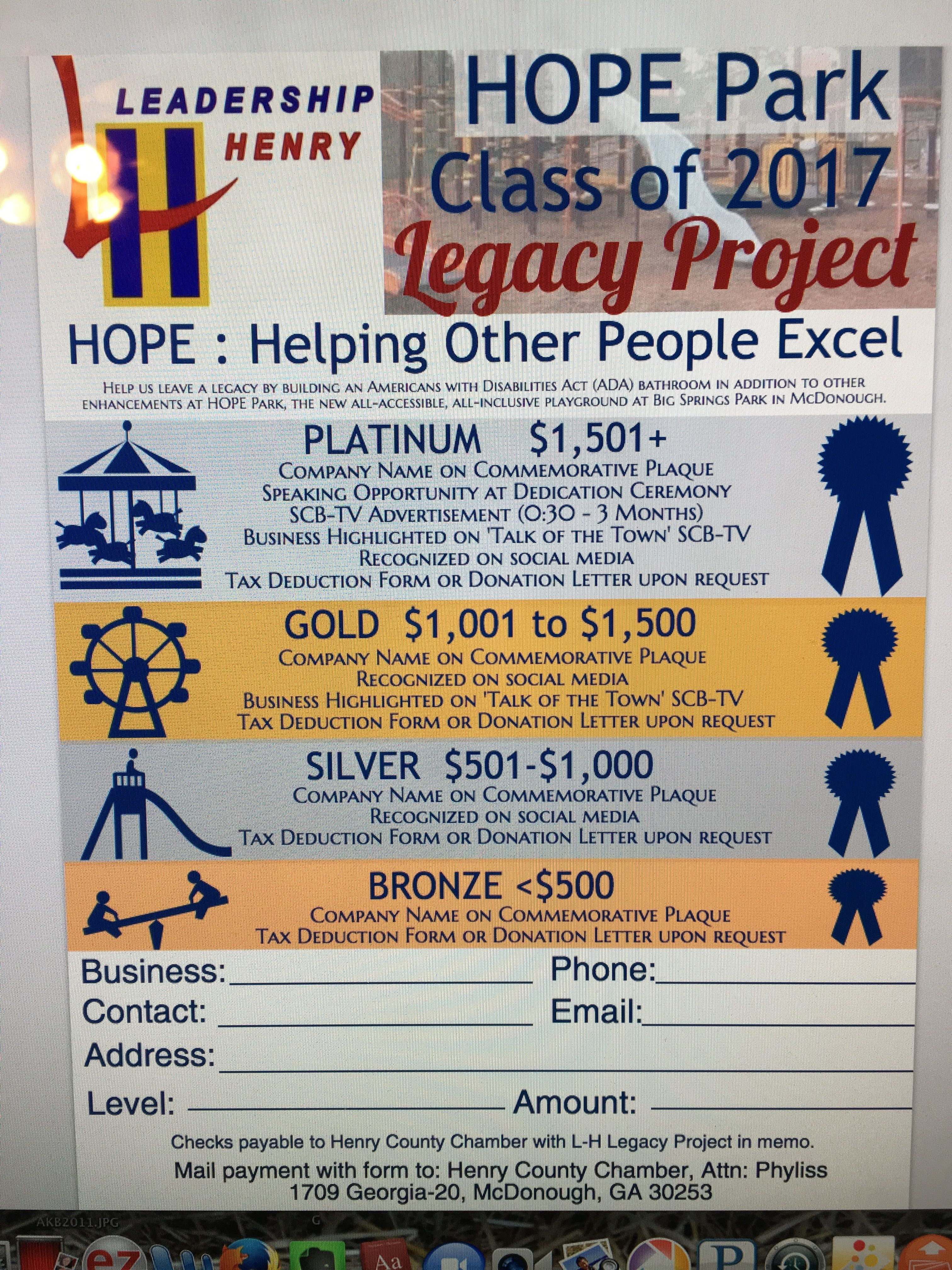 Leadership Henry Hope Park Legacy Project