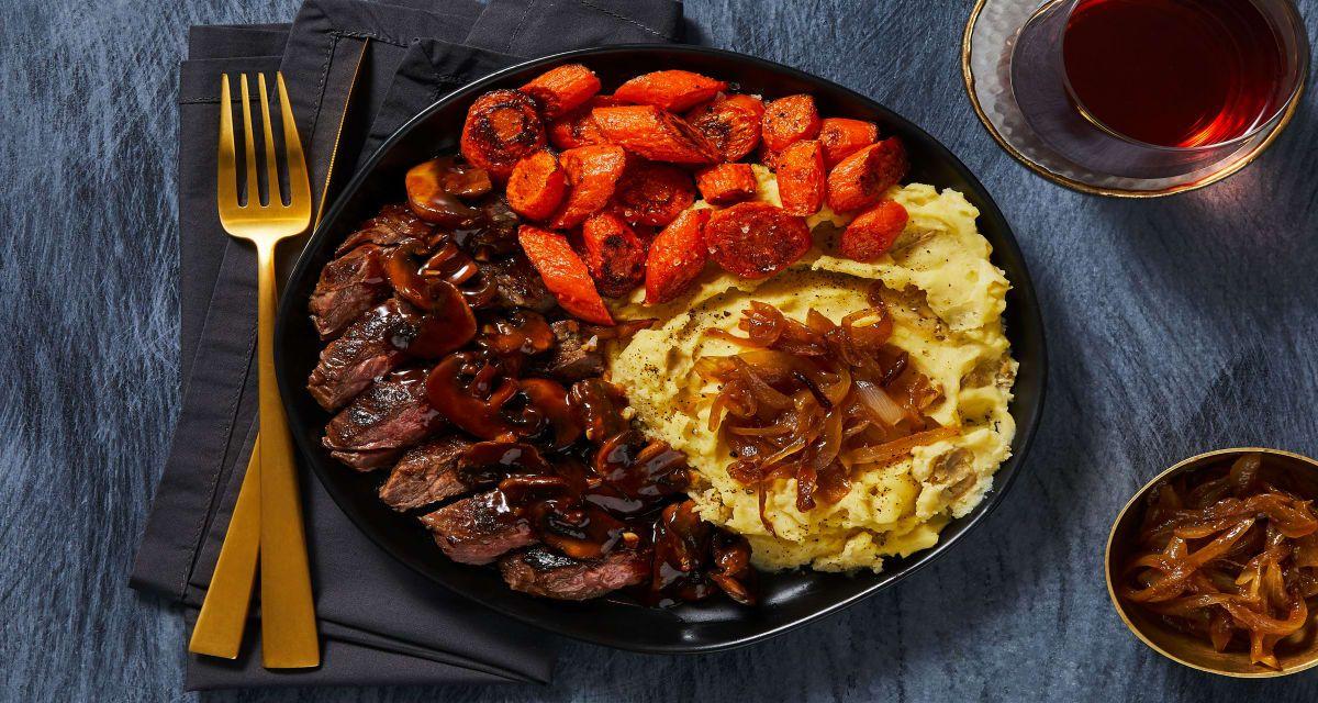 Steak With Mushroom Sauce Recipe Hellofresh Recipe Hello Fresh Recipes Mushroom Sauce Recipe Hello Fresh